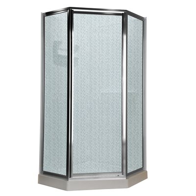 "68.5"" Neo Angle Hammered Shower Door Product Photo"