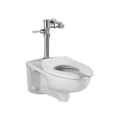 Afwall Commercial 1.6 GPF Elongated Manual Flush Valve 1 Piece Toilet Product Photo