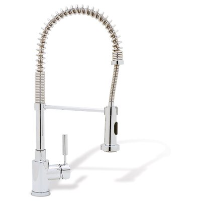 Meridian Single Handle Deck Mounted Kitchen Faucet with Pull Down Hand spray Product Photo
