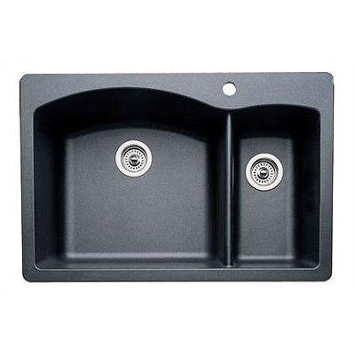 Blanco Drop In Kitchen Sinks : Diamond 33