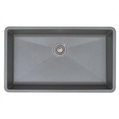 "Precis 32"" x 19"" Super Single Bowl Kitchen Sink Product Photo"