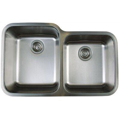 "Stellar 32.33"" x 20.5"" Double Bowl Undermount Kitchen Sink Product Photo"