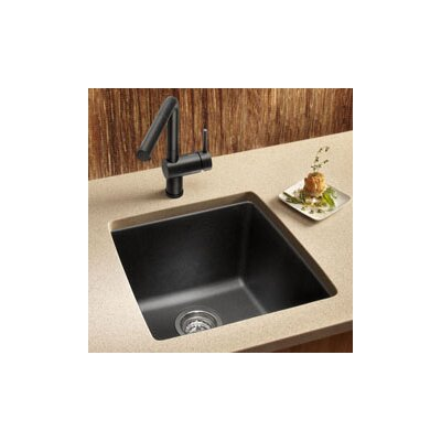 "Performa 17.5"" x 17"" Silgranit II Single Bowl Undermount Bar Sink Product Photo"