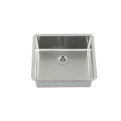 "23"" x 19"" Single Bowl Zero Radius Bar Sink Product Photo"