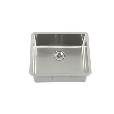 "23"" x 19"" Single Bowl Zero Radius Bar Sink Product Photo"