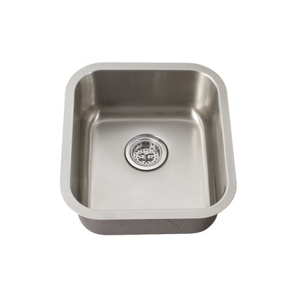 "16.19"" x 18"" Single Bowl Bar Sink Product Photo"