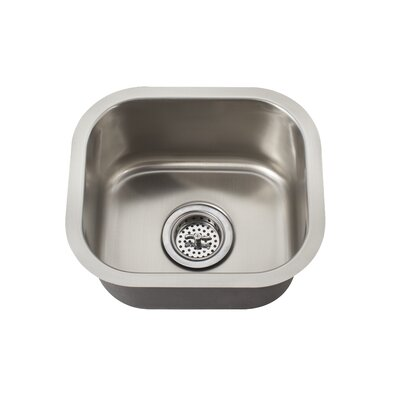 "14.625"" x 13"" Undermount Single Bowl Bar Sink Product Photo"