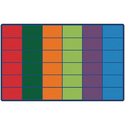Carpets for Kids Colorful Seating Rows Kids Rug