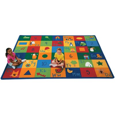 Carpets for Kids Printed Learning Blocks Area Rug
