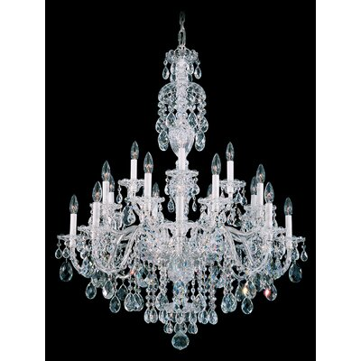 Sterling 20 Light Crystal Chandelier by Schonbek