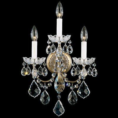 Schonbek New Orleans Wall Sconce in Silver with Handcut Crystals