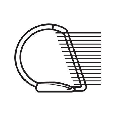 "Stride, Inc. Quick Fit Ledger D-Ring Binder, 1"" Capacity, 11 x 17, White"
