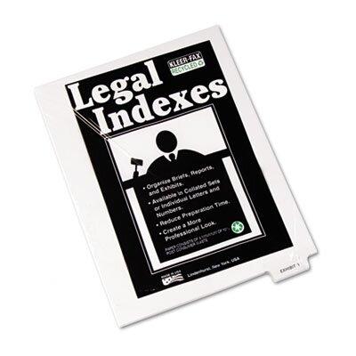 """Kleer-Fax, Inc. 80000 Series Legal Index Dividers, Bottom Tab, Printed """"Exhibit M"""", 25/Pack"""