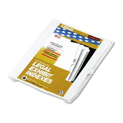 """Kleer-Fax, Inc. 90000 Series Legal Exhibit Index Dividers, Side Tab, Printed """"1"""", 25/Pack"""