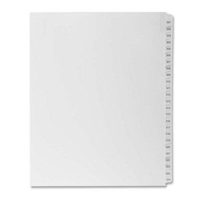 """Kleer-Fax, Inc. Index Dividers,""""Exhibit 301-325"""",Side Tabs,1/25 Cut,25/PK,WE"""