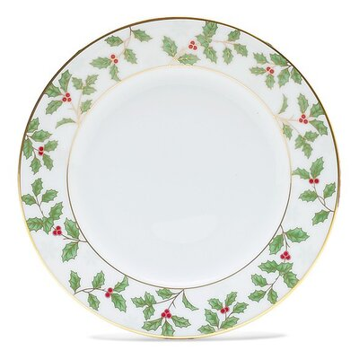 """Noritake Holly and Berry Gold 6.25"""" Bread and Butter Plate"""