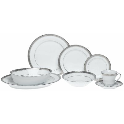 Crestwood Platinum 50 Piece Dinnerware Set by Noritake