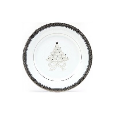 "Noritake Crestwood Platinum 9"" Holiday Accent Plate"