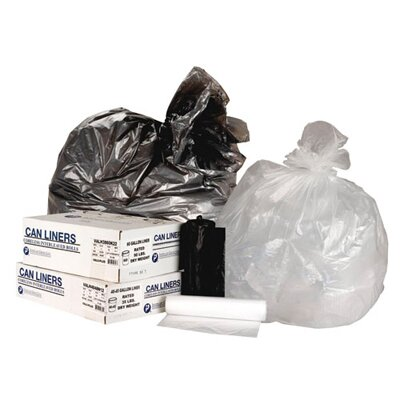 Inteplast Group 45 Gallon High Density Can Liner, 13 Micron Equivalent in Clear