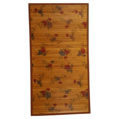 Naturesort Intersection Red Roses/Medium Brown Area Rug