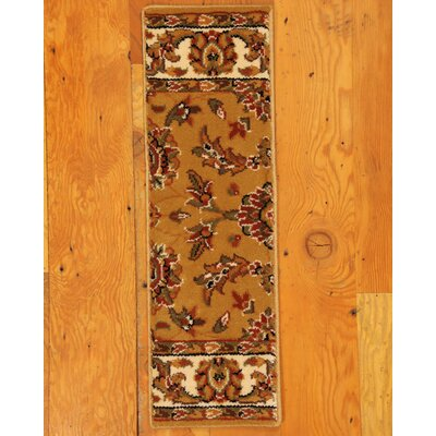 Sydney Gold Classic Persian Stair Tread by Natural Area Rugs