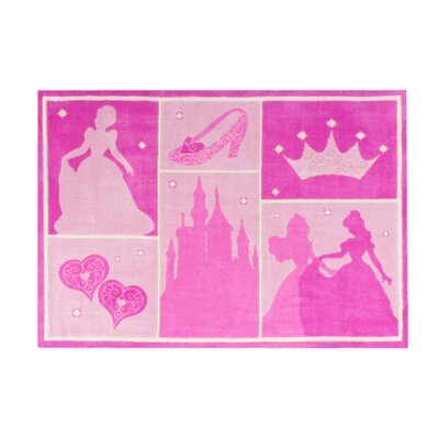 Princess Castle Patchwork Pink Area Rug by G.A. Gertmenian & Sons