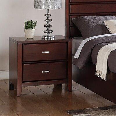Carrington 2 Drawer Nightstand by Alpine Furniture
