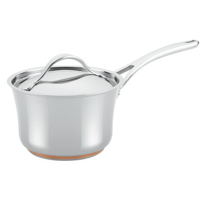Nouvelle Copper Stainless Steel 3.5-qt. Covered Saucepan with Lid by Anolon