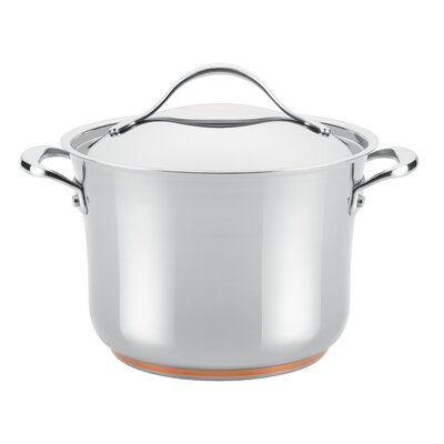 Nouvelle Copper Stainless Steel 6.5-qt. Stock Pot with Lid by Anolon