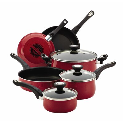 New Traditions Speckled Aluminum Nonstick 12-Piece Cookware Set by Farberware