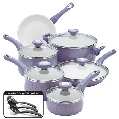 Ceramic Cookware Speckled Nonstick 14-Piece Cookware Set by Farberware