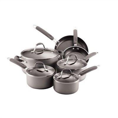 Enhanced Aluminum Nonstick 10-Piece Cookware Set by Farberware