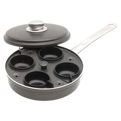 Aluminum 1 Qt. Egg Poacher with Stainless Steel Cover by Farberware