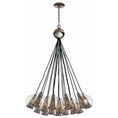 arteriors home caviar 18 light cluster pendant reviews. Black Bedroom Furniture Sets. Home Design Ideas