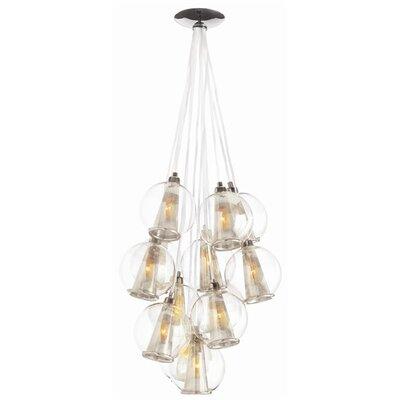 arteriors home caviar fixed 8 light cluster pendant. Black Bedroom Furniture Sets. Home Design Ideas