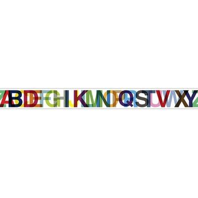 "4 Walls Typeset 15' x 9"" Letters Border Wallpaper"