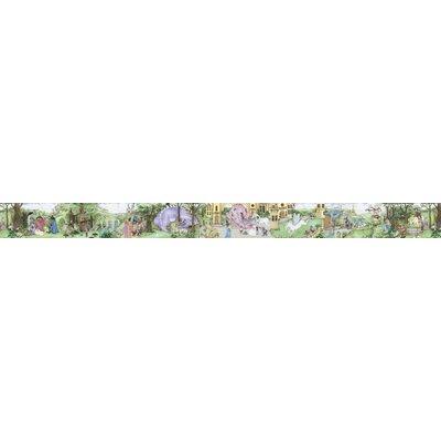 "4 Walls Enchanted Kingdom Mural Style 12' x 12"" Scenic Border Wallpaper"