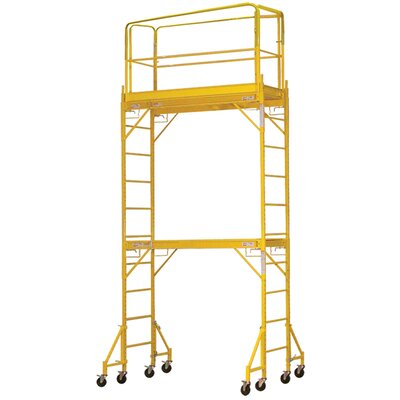 "Buffalo Tools Pro Series 14.83' H x 72"" W x 53.28'' D Steel Wide Interior Tower Scaffolding System with 375 lb. Load Capacity Type 2A Duty Rating"