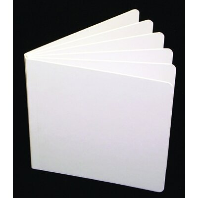 Ashley Productions Inc White Hardcover Blank Book 11x8-1/2