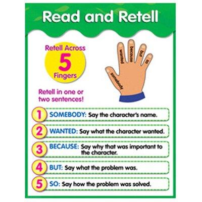 Creative Teaching Press Read and Retell Grade 1-3 Chart