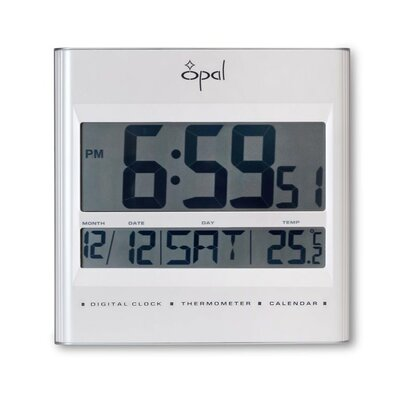LCD Table Clock with Foldable Stand by Opal Luxury Time Products