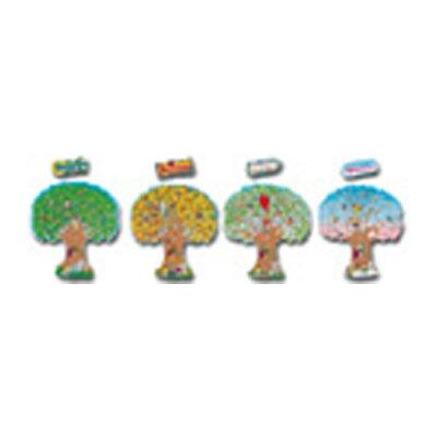 Frank Schaffer Publications/Carson Dellosa Publications 4 Season Trees Bulletin Board Cut Out Set