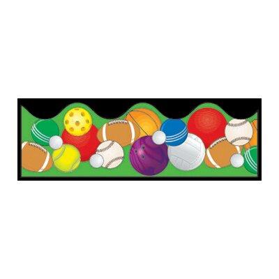 Frank Schaffer Publications/Carson Dellosa Publications Sports Balls Scalloped Classroom Border