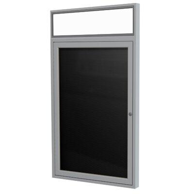 Ghent 1-Door Aluminum Enclosed Flannel Letter Board, 3' x 3'