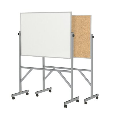 Ghent Reversible Acrylate Whiteboard, 7' x 6'