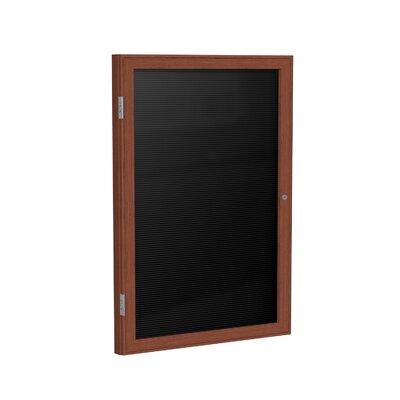 Ghent 1-Door Wood Frame Enclosed Flannel Letter Board, 3' x 3'