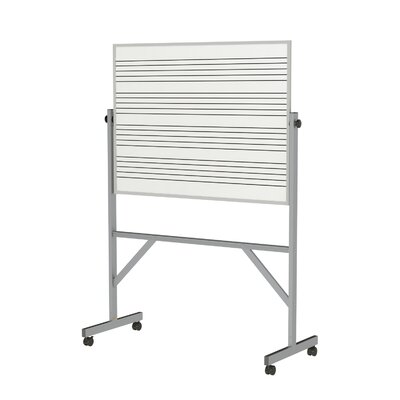 Ghent Reversible Magnetic Whiteboard, 7' x 6'