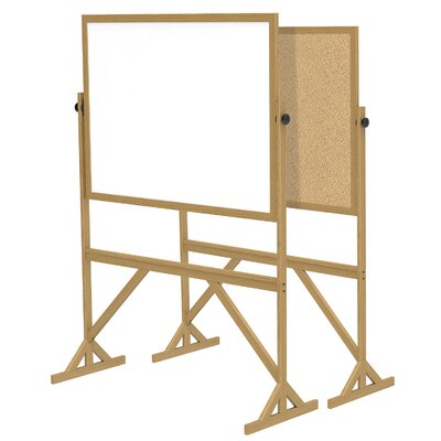 Ghent Acrylate Reversible Whiteboard, 7' x 6'