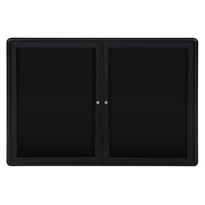 Ghent 2-Door Ovation Aluminum Frame Felt Letter Board, 3' x 4'