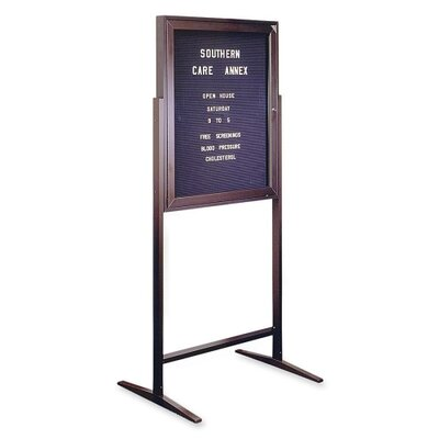 Ghent Standing Message Center Free Standing Letter Board, 3' x 2'